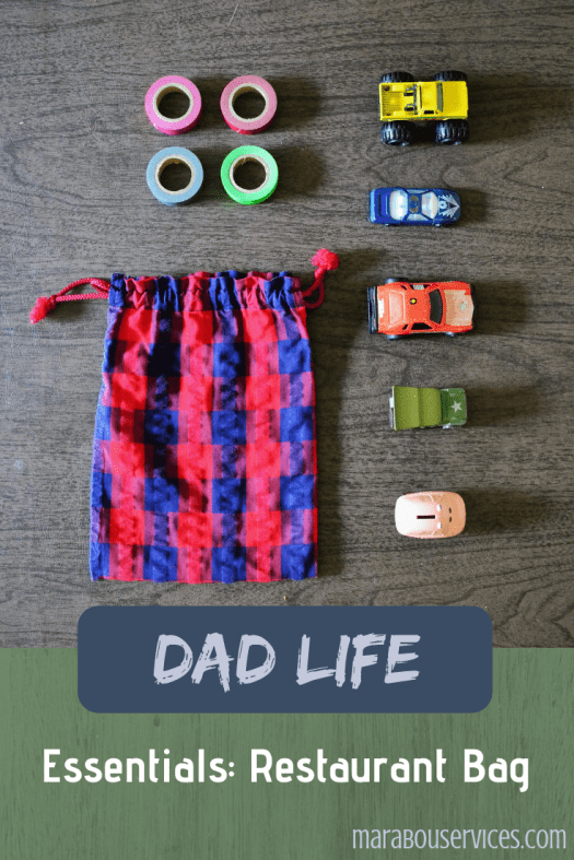 Essentials Restaurant Bag for Kids. Dad Life!