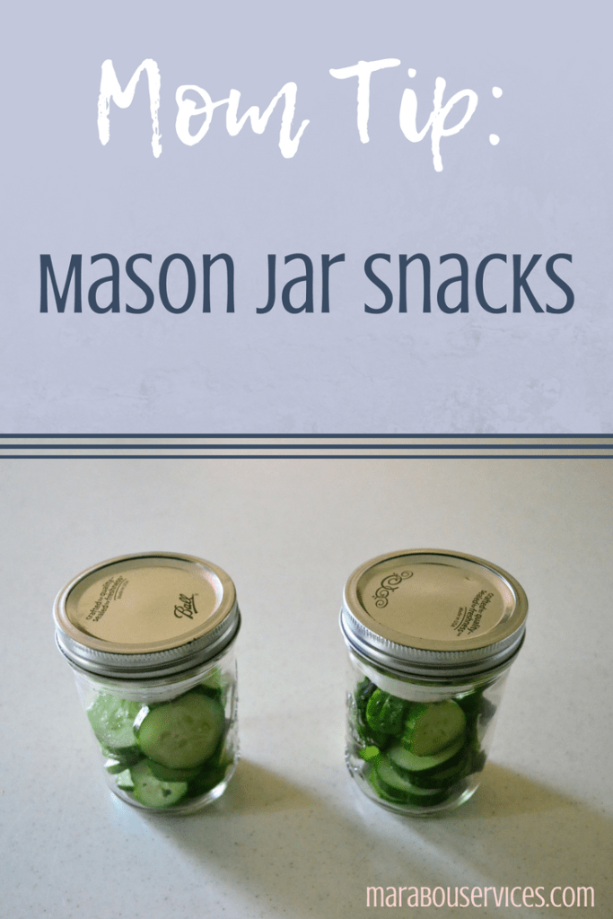 Mom Tip: Mason Jar Snacks