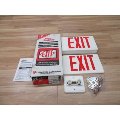 Lithonia Lighting LQM S W 3 R LED Exit Sign LQMSW3R - Mara Industrial