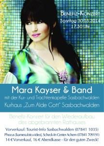 Benefizkonzert mit Mara Kayser in Sasbachwalden