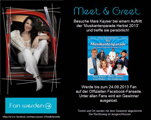 Gewinne ein Meet & Greet mit Mara Kayser