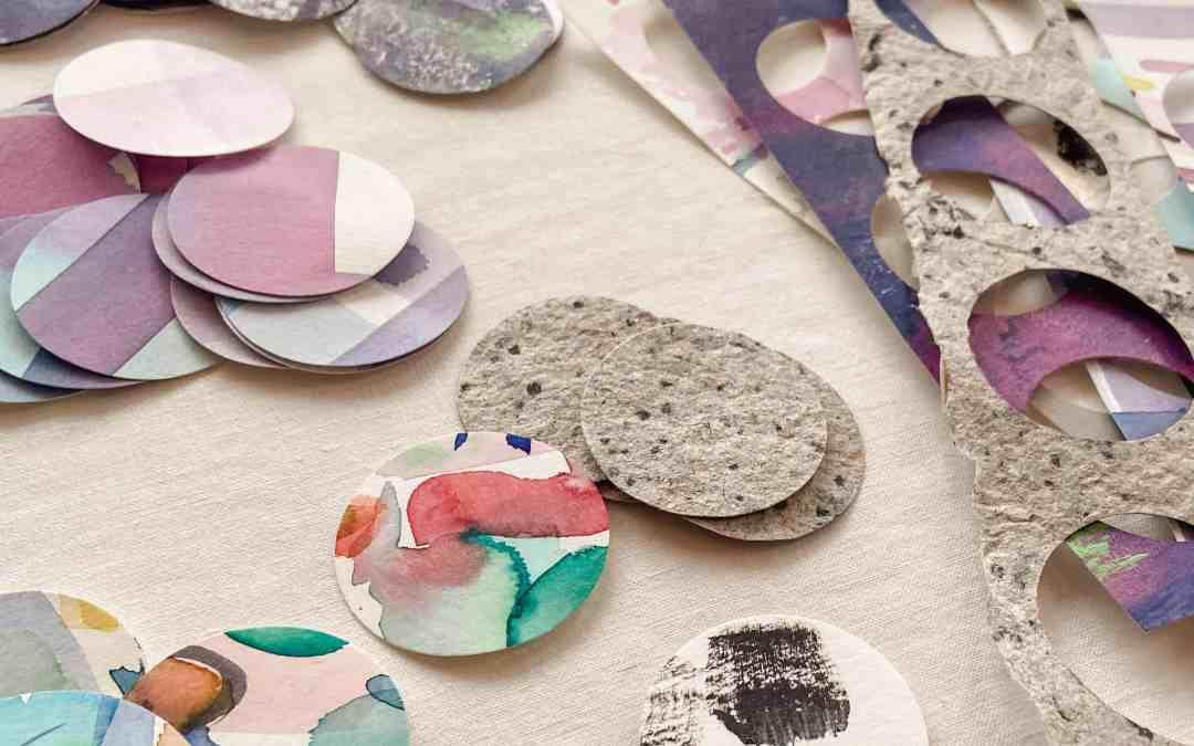 DIY: Wanddeko aus recycelten Papier-Kreisen
