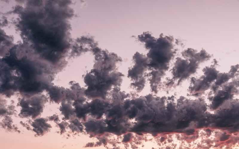 rain clouds in sky in evening