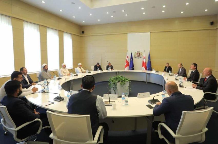Gürcistan Başbakanı Gakharia, Kurban Bayramı'nda Müslüman dini liderleri ağırladı