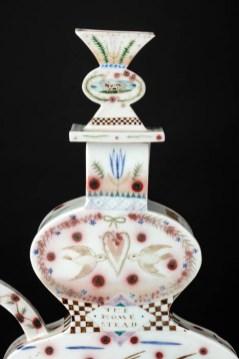 """Mara Superior, """"The Homestead: A Pastoral"""", 1989, 19 x 15 x 8"""", high-fired porcelain, ceramic oxides, underglaze, glaze."""