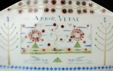 "Mara Superior, ""Arbor Vitae/Enchanted Wood"", 1993, 11 x 20 x 9"", high-fired porcelain, ceramic oxides, underglaze, glaze."
