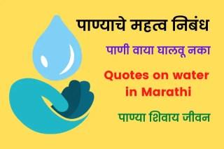Panyache Mahatva