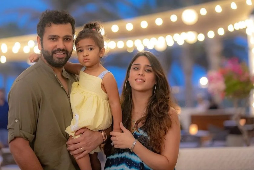 Rohit Sharma with Wife and Kids