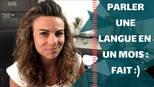Comment parler langue 1 mois