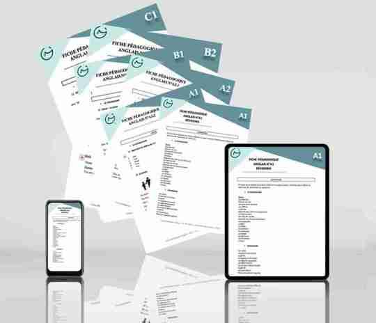fiches pédagogiques d'anglais du Marathon des Langues sur iPhone et iPad