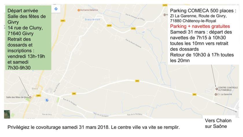 Parking et navettes Marathon des Vins 2018