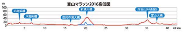富山マラソン コース 高低差