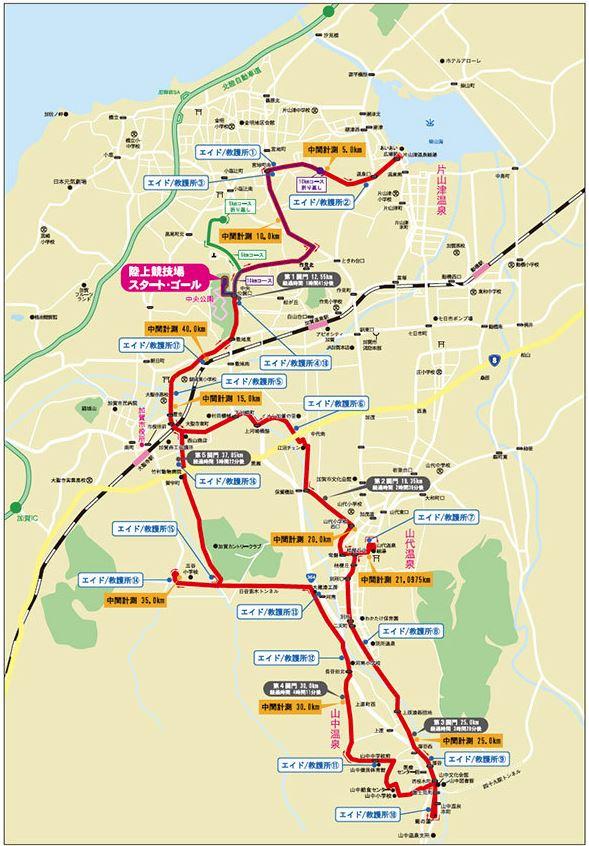 加賀温泉郷マラソン コース