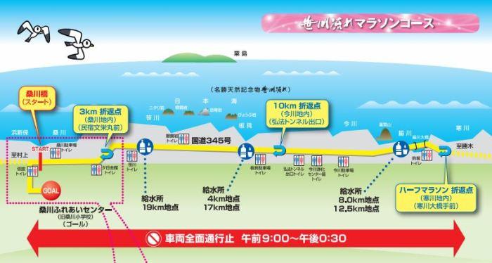 笹川流れマラソン コース