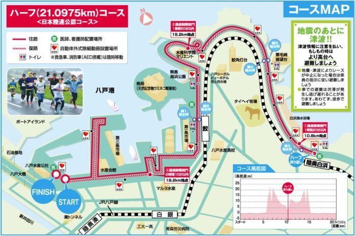 八戸うみねこマラソン コース