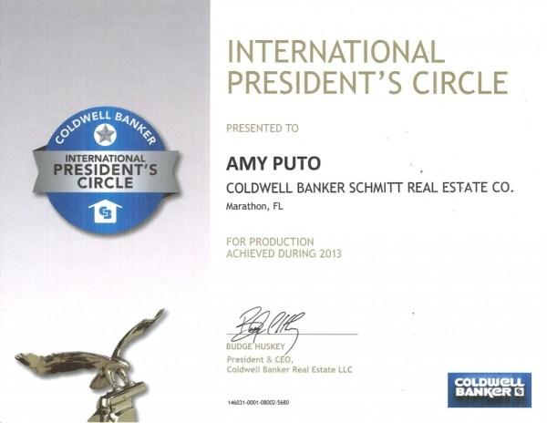 International President's Circle Award-Amy Puto