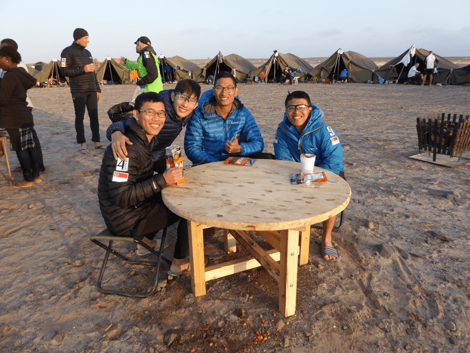 Team Mental Muscle - 4 young doctors from Singapore raising money by running across the desert (also my tentmates)