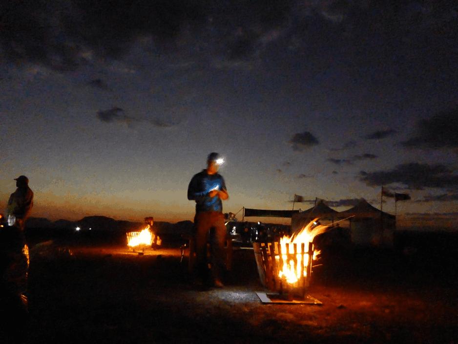 Desert Camp at Night