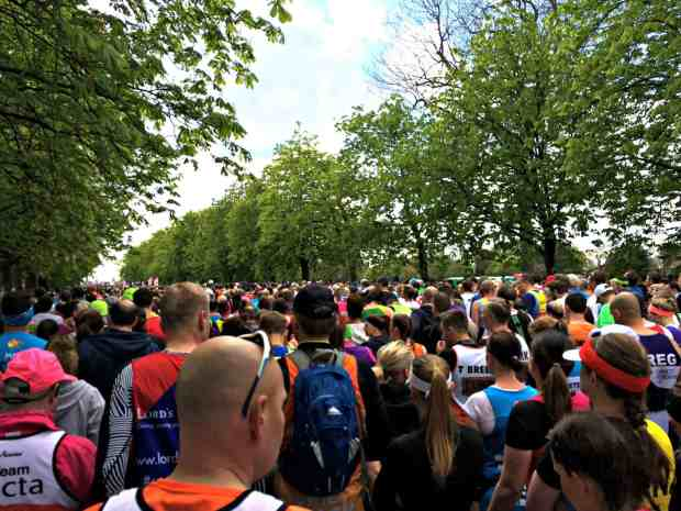 London Marathon crowds