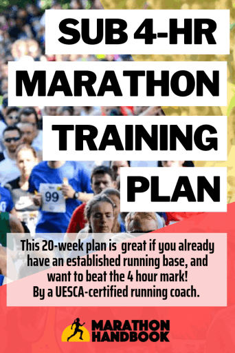Sub 4 hour Marathon Training Plan