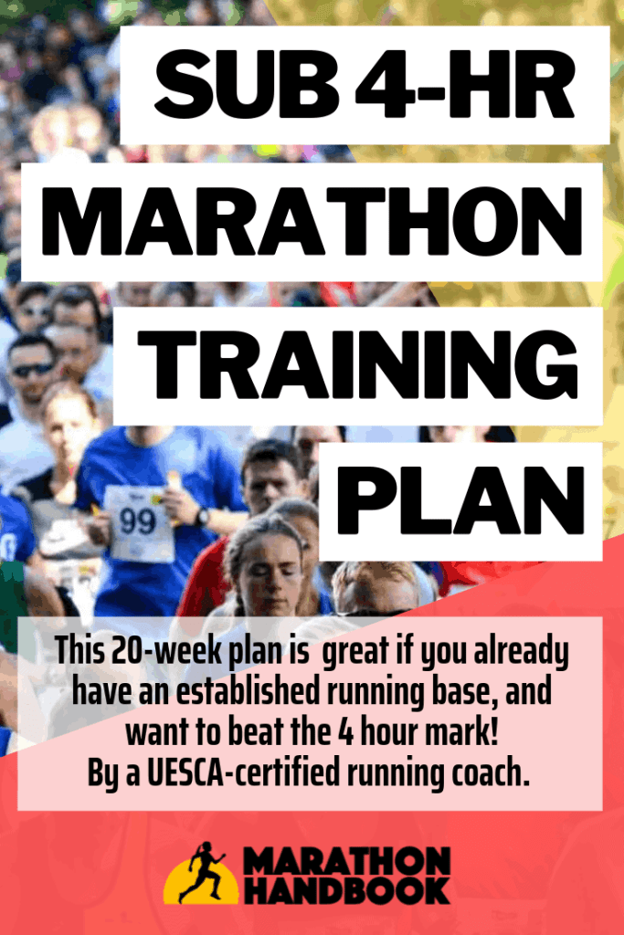 Sub 4-hr Marathon Training Plan