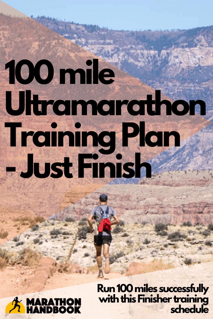 100 Mile Training Plan - Just Finish 1