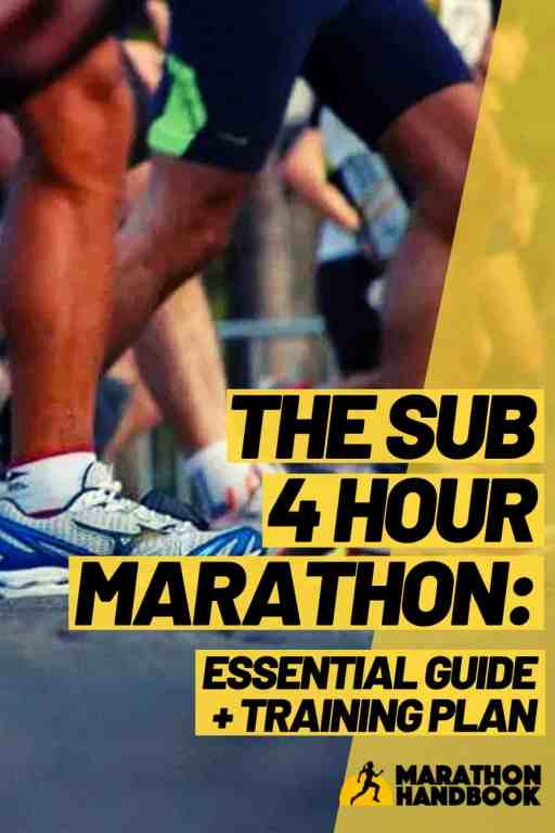 sub 4 hour marathon essential guide and training plan