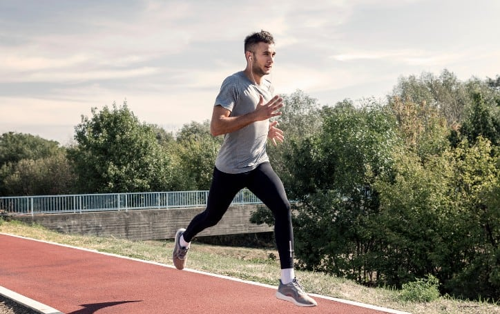 HIIT Running Workout Outdoors