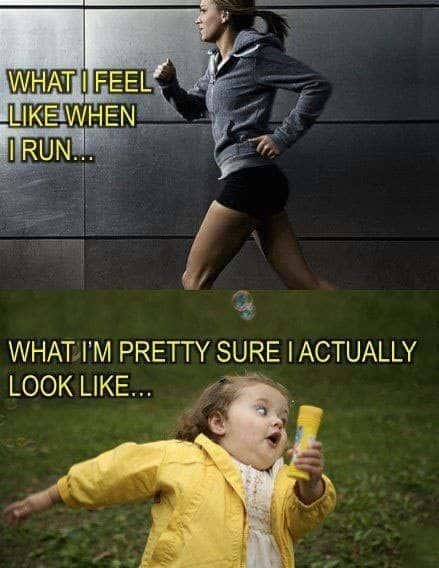 funny running meme expectation vs reality