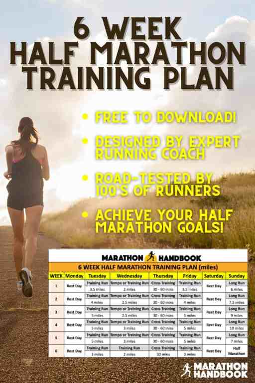6 week half marathon training