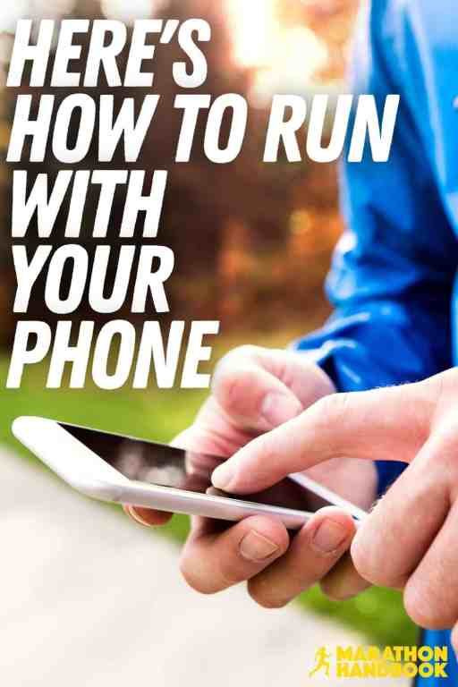 running with phone
