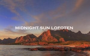 midnight sun lofoten