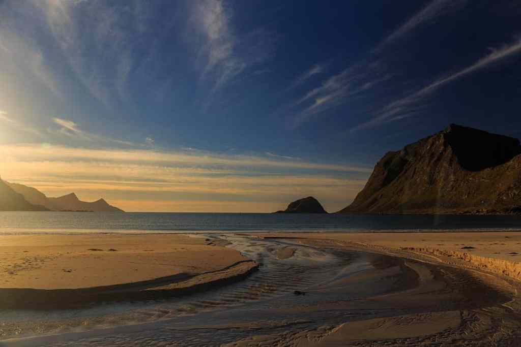 Vik beach, Lofoten islands, Norway