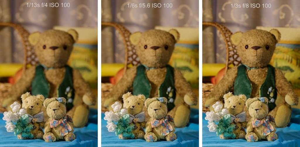 all shots with different aperture