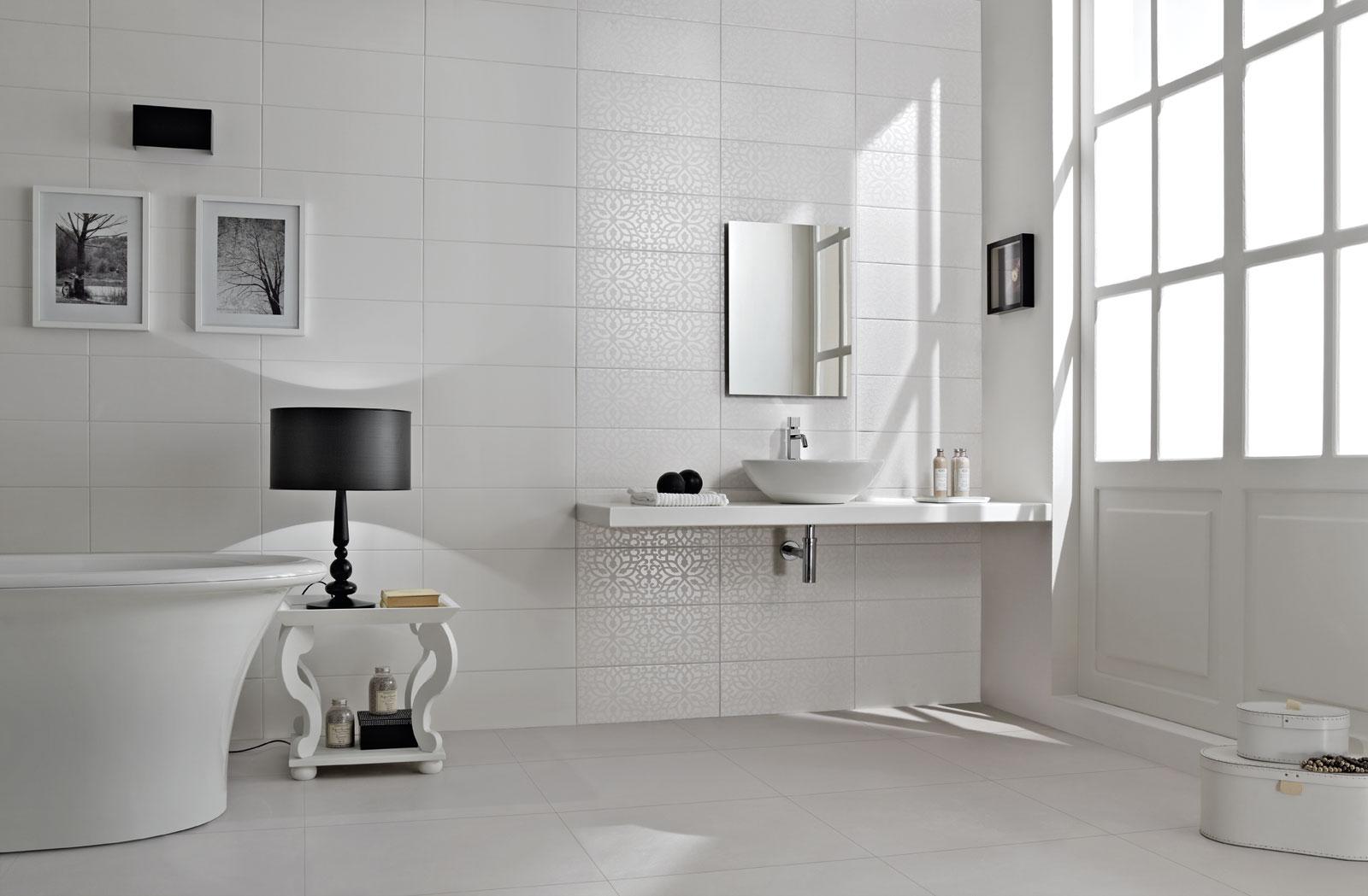 Piastrelle bagno bianco e grigio black andwhite piastrelle per