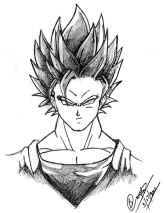 goku pictures in black and white (16)