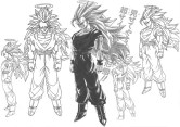goku pictures in black and white (57)