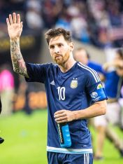 HOUSTON, TX - JUNE 21: Lionel Messi #10 of Argentina following the Copa America Centenario Semifinal match between United States and Argentina at NRG Stadium on June 21, 2016 in Houston, Texas. Argentina won the match 4-0 (Photo by Shaun Clark/Getty Images) *** Local Caption *** Lionel Messi