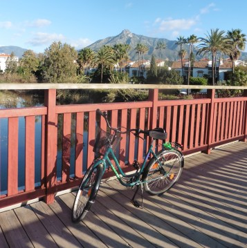 View to the mountains from Rio Verde bridge