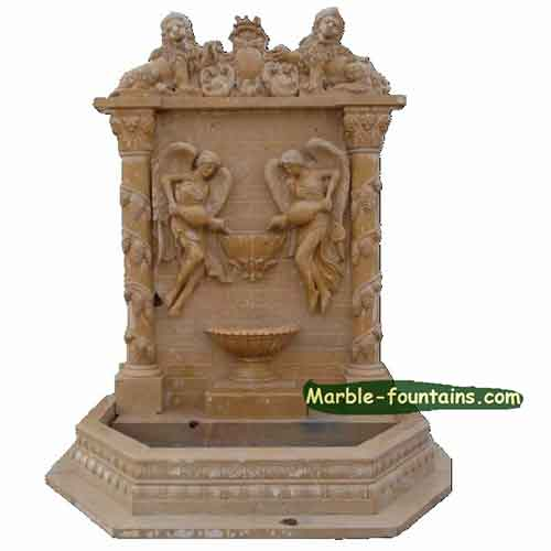 carrara lion head wall water fountains uk for sale