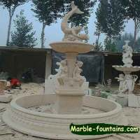 Marble outdoor Dolphin water fountain and mermaid fountain ...