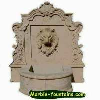 extra large fountains with lion statues and marble lion ...