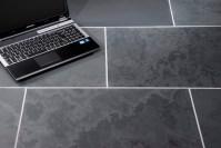 Brazilian Black Honed Calibrated Slate 600 mm x 300 mm x 10 mm