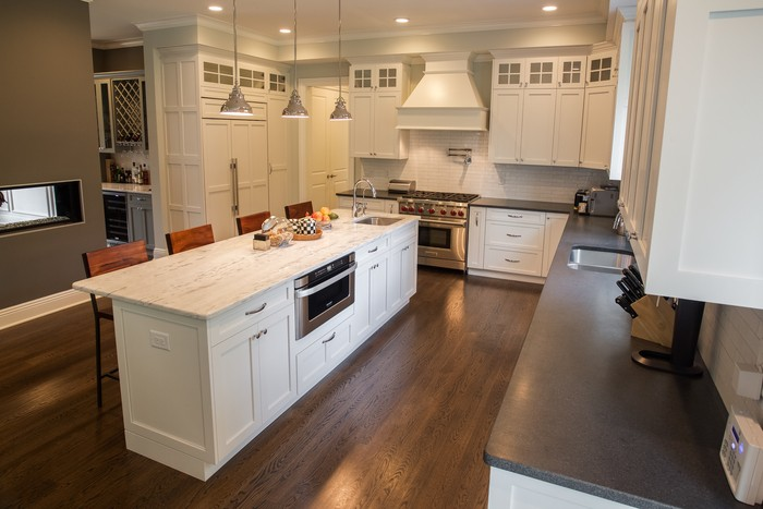 different kinds of kitchen countertops stainless steel work table white cabinets paired with dark countertops; design