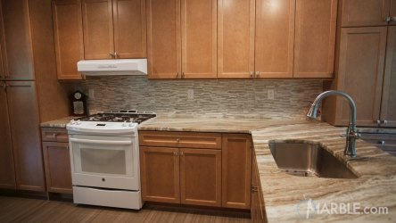marble fantasy brown countertops quartzite granite cabinets kitchen countertop sink wood single tile vs wall counter flooring concrete kitchens stained