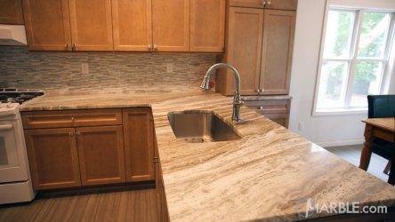 brown fantasy quartzite marble cabinets countertops kitchen countertop granite oak wood cheap counter kitchens tile