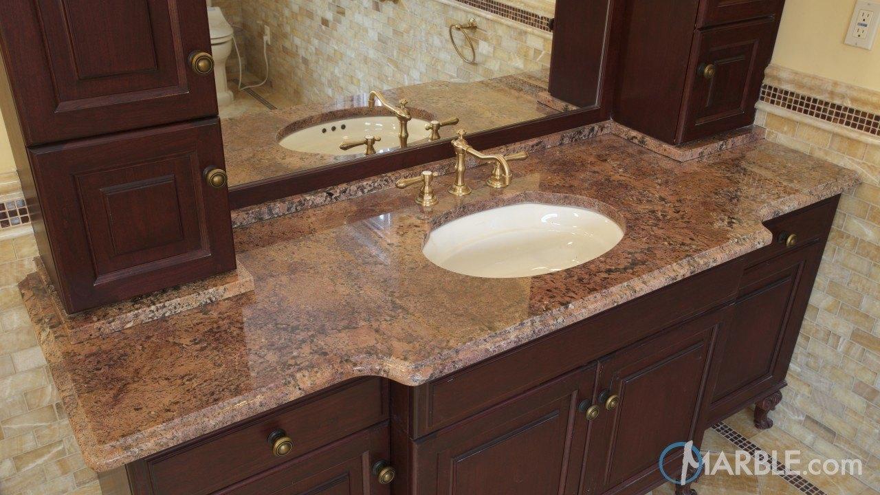 Bordeaux Granite Bathroom Vanity  Marblecom