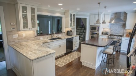 fantasy brown marble kitchen countertops quartzite granite countertop kitchens backsplash stone cabinets tile flooring traditional edge difference between slab straight