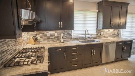 brown countertops fantasy kitchen marble granite cabinets backsplash dark counter quartzite grey counters light countertop kitchens colors tan designs sink