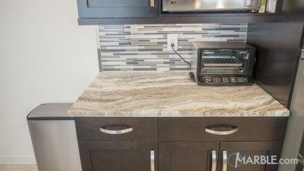 fantasy brown cabinets dark kitchen marble kitchens countertops quartzite counter